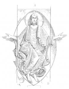 Christ.portail.eglise.Vezelay-233x300