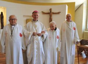 """Quatre prêtres du diocèse de Dijon ont fêté leur """"jubilé"""" ce jeudi !"""