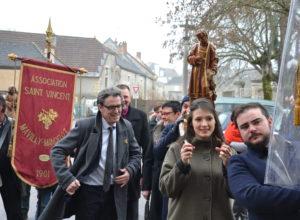 Messes de Saint-Vincent : les images à Nolay, Chassagne-Montrachet et Volnay